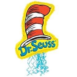 """Dr. Seuss 21"""" Cat In The Hat Pull-String Pinata"""