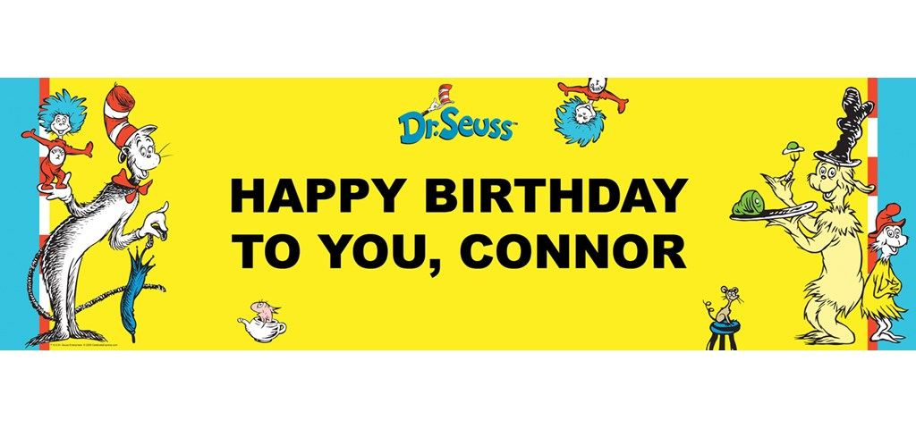 Dr. Seuss Personalized Birthday Banner
