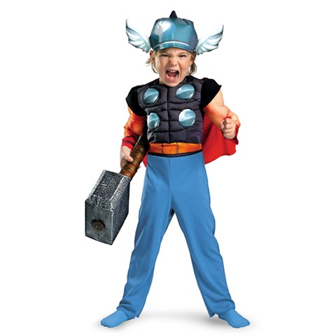 Thor Muscle Toddler Costume