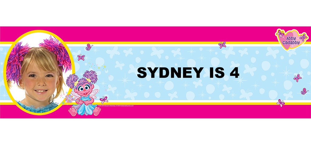 Abby Cadabby Personalized Photo Banner