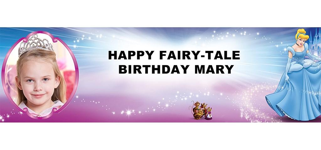 Disney Cinderella Personalized Photo Banner