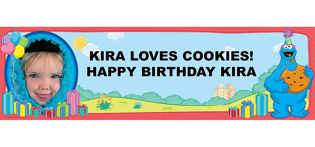 Cookie Monster Personalized Photo Banner