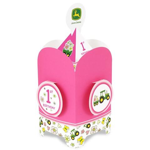 John Deere Pink 1st Birthday Centerpiece