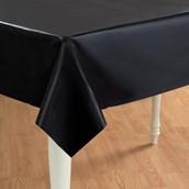 Black Velvet (Black) Plastic Tablecover