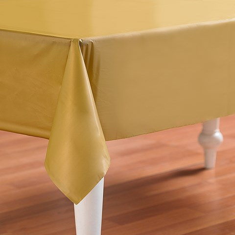 Glittering Gold (Gold) Plastic Tablecover