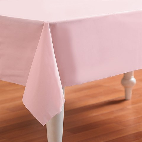 Classic Pink (Light Pink) Plastic Tablecover