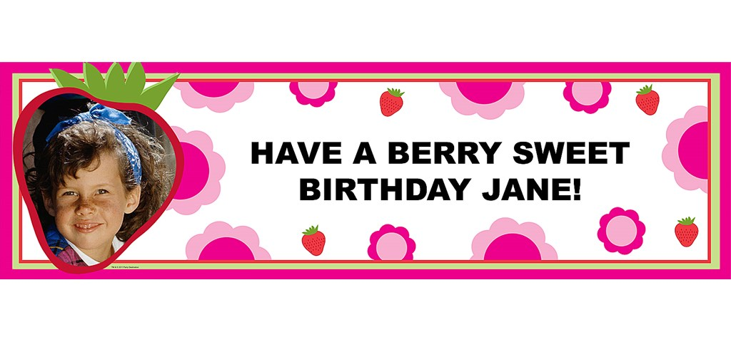 Strawberry Personalized Photo Banner