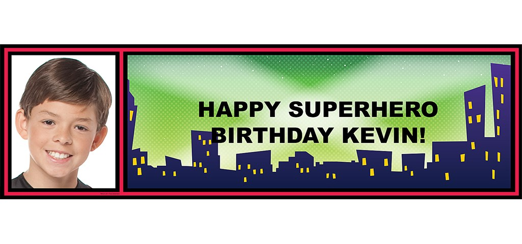 Cityscape Personalized Photo Banner