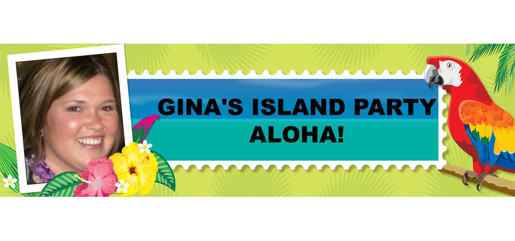 Tropical Luau Personalized Photo Banner