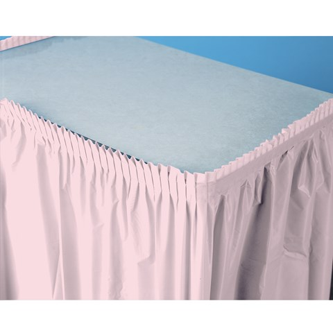 Classic Pink (Light Pink) Plastic Table Skirt