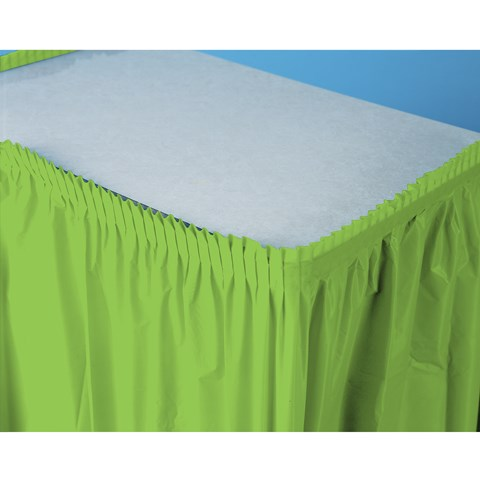 Fresh Lime (Lime) Plastic Table Skirt