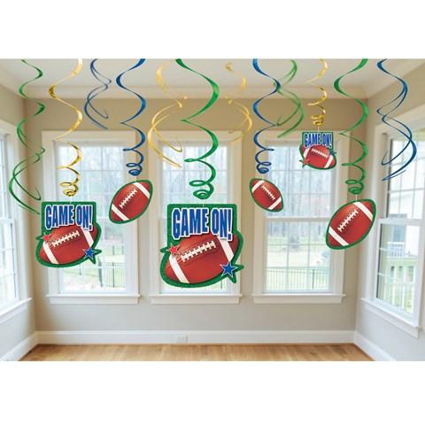 Football Swirl Decorations