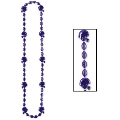 Purple Football Beads Necklace