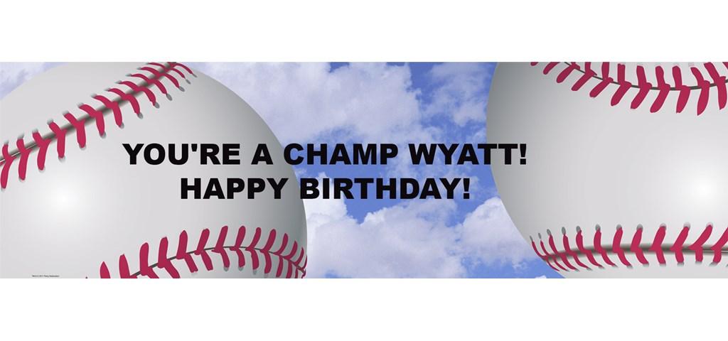Baseball Fun Personalized Banner
