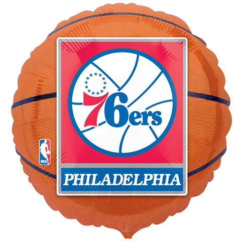 Philadelphia 76ers Basketball Foil Balloon