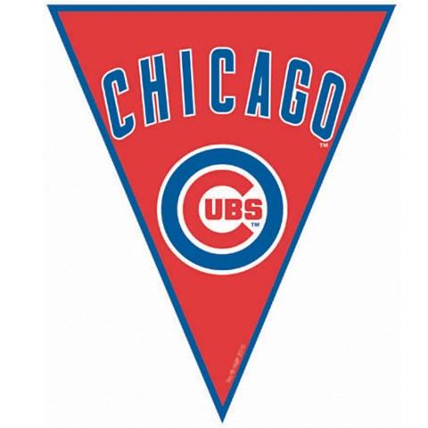 Chicago Cubs Baseball Pennant Banner