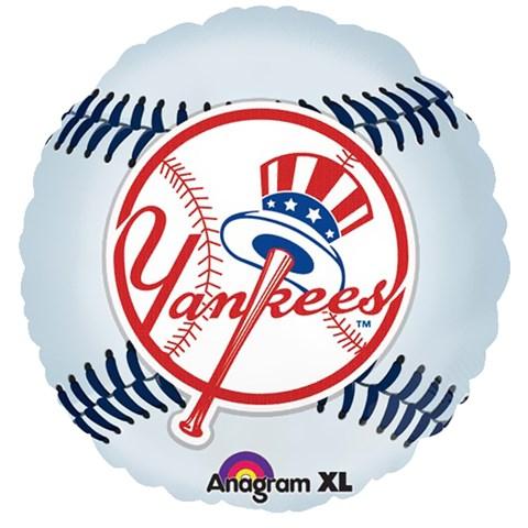 New York Yankees Baseball Foil Balloon