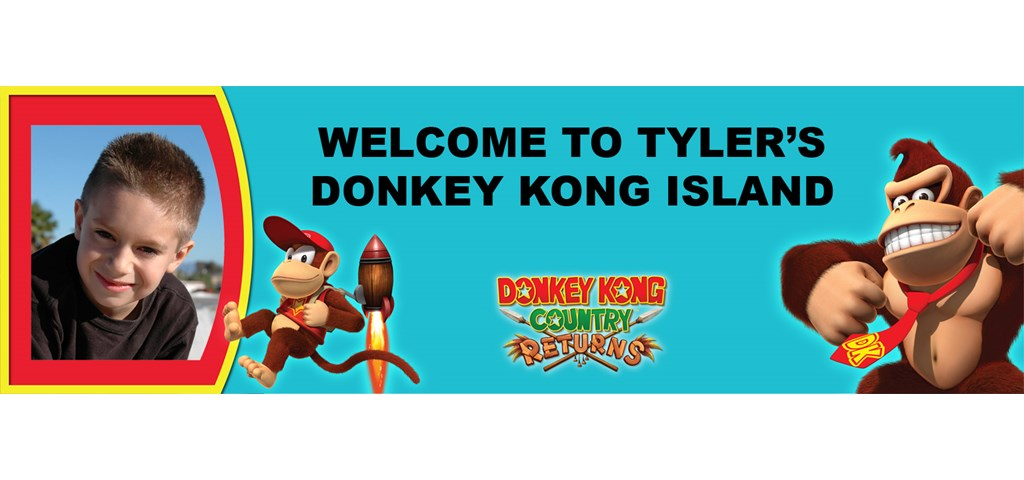Donkey Kong Personalized Photo Banner