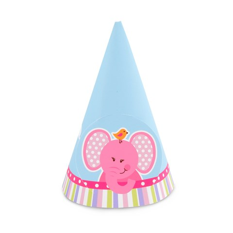 Pink Elephants Cone Hats