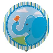Blue Elephants Foil Balloon