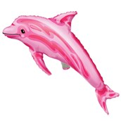 Pink Dolphin Shaped Jumbo Foil Balloon