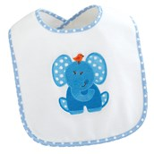 Blue Elephants Birthday Bib