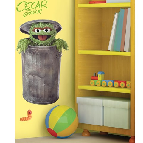 Oscar the Grouch Peel and Stick Giant Wall Decals
