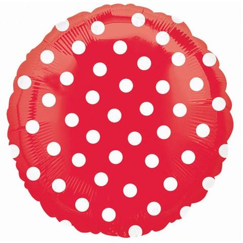 Red Polka Dot Foil Balloon