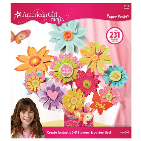 American Girl Crafts - Paper Posies Pad Activity