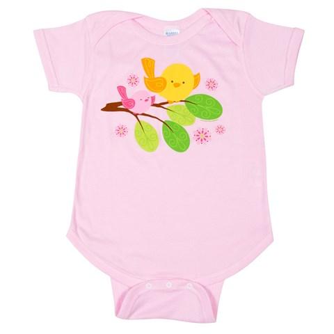 Sweet Tweet Bird Pink - Body Suit