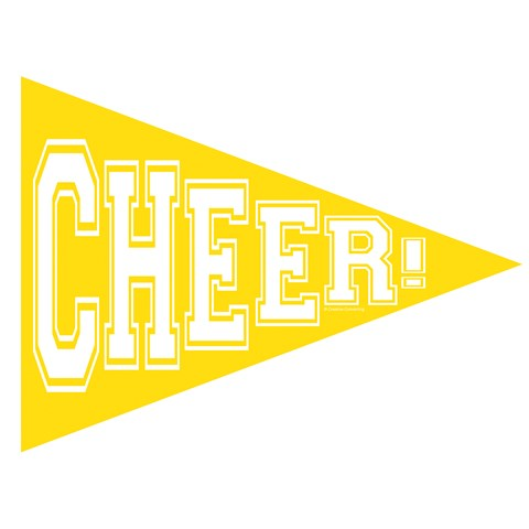 School Spirit Pennant Banner - Yellow