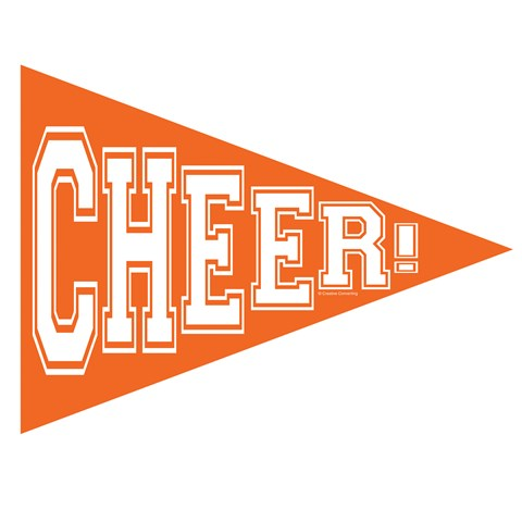 School Spirit Pennant Banner - Orange