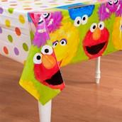 Sesame Street 1st Birthday Plastic Tablecover