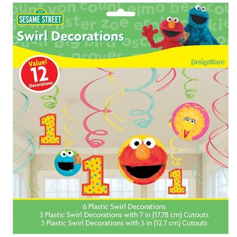 Sesame Street 1st Birthday - Swirl Decorations