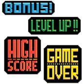 8-Bit Action Sign Cutouts