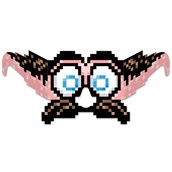 8-Bit Moustache & Eyes Eyeglasses