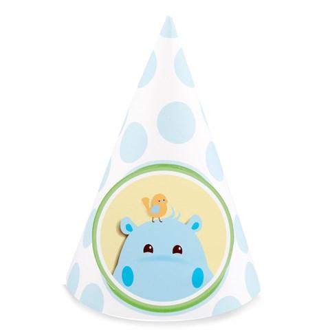 Hippo Blue Cone Hats