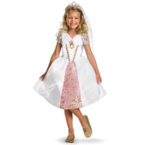 Disney Tangled Rapunzel Wedding Gown Kids Costume