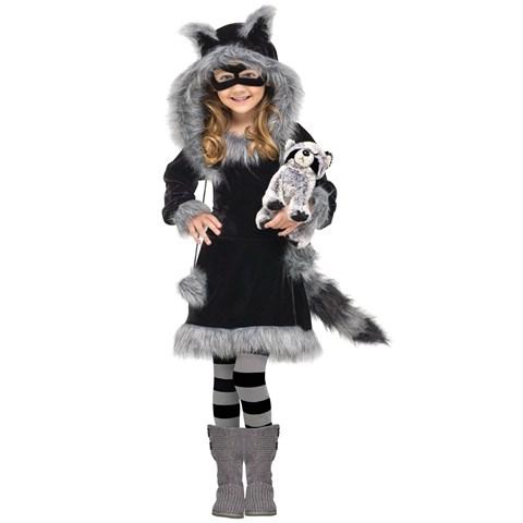 Sweet Raccoon Kids Costume