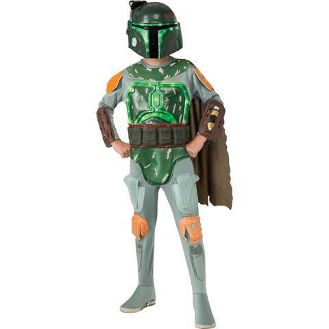 Star Wars Deluxe Boba Fett Light-Up Kids Costumes