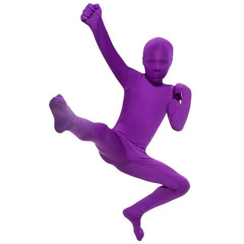 Purple Skin Suit Kids Costume