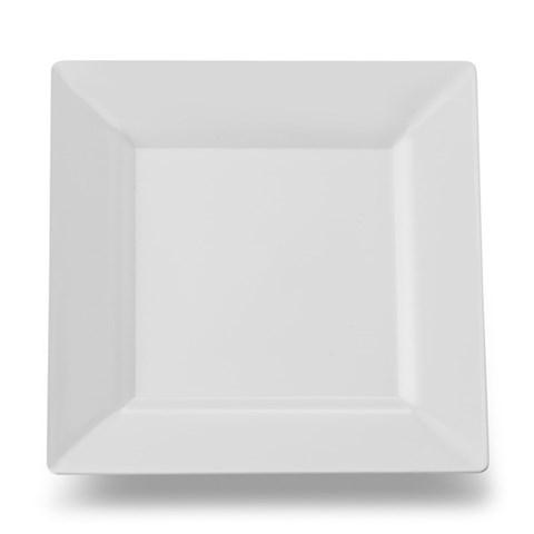 White Square Premium Plastic Dessert Plates
