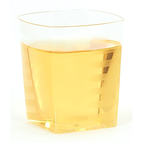 Clear Square 9 oz. Premium Plastic Cups