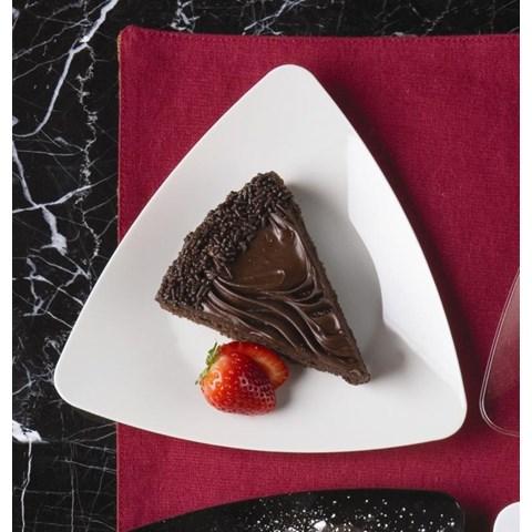 White Premium Plastic Triangle Dessert Plates