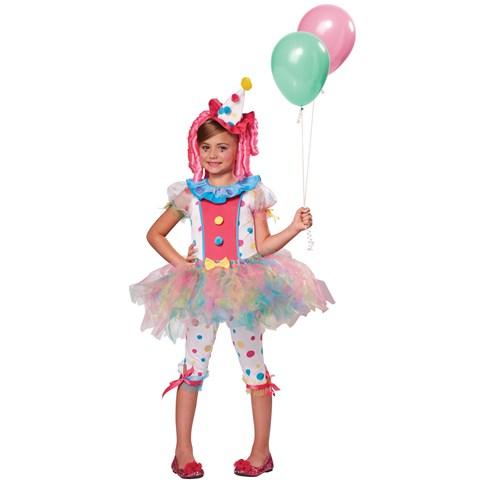 Rainbow Clown Girls Costume