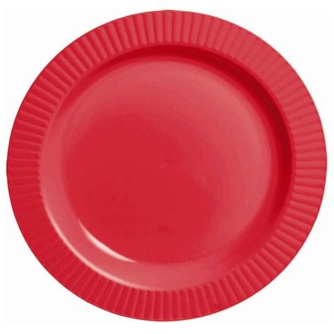 Red Premium Plastic Banquet Dinner Plates