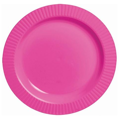 Bright Pink Premium Plastic Banquet Dinner Plates