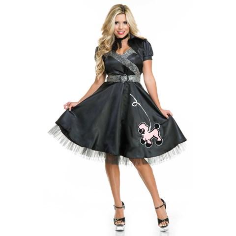 50s Satin Adult Poodle Dress Costume