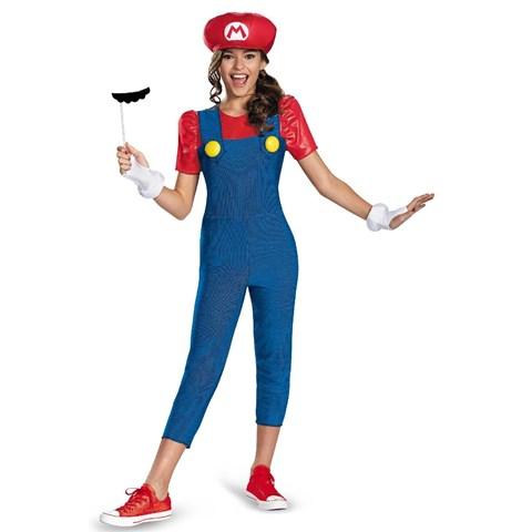 Super Mario Brothers Mario Tween Girl Costume