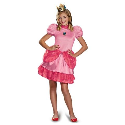 Super Mario Brothers Princess Peach Tween Girl Costume